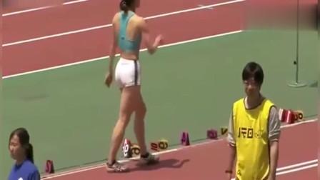 女子跳远比赛!美女运动员身材太好了,只可惜这个成绩一般
