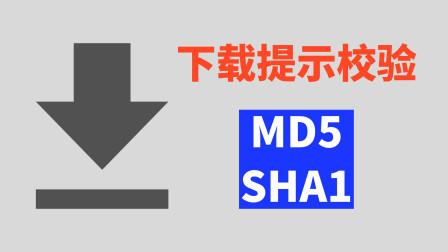 下载文件为啥提示校验MD5 SHA1?到底有啥用?
