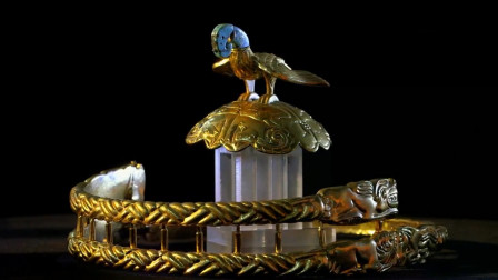 国宝鹰顶金冠,不愧是匈奴王的专属王冠,太豪华太漂亮太霸气