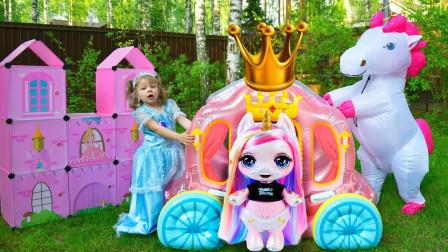 太神奇!萌宝小萝莉为何不能去玩?可是怎么得到小马和马车呢?儿童亲子游戏玩具故事