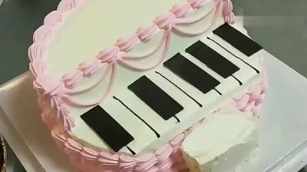 小公举弹钢琴异型生日蛋糕制作,送给最可爱的小女生,真是太美了