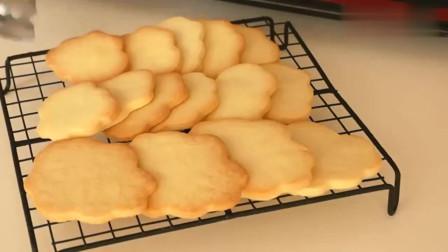 可爱的云朵造型黄油饼干,非常的小清新风格