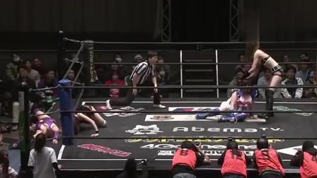 日本女摔联赛——妹子这细胳膊细腿没想到打起来还有优势