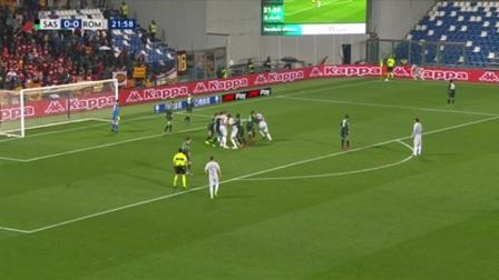 第23分钟罗马球员克里斯坦特射门