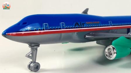 开箱机场和飞机,直升机和公共汽车卡车玩具