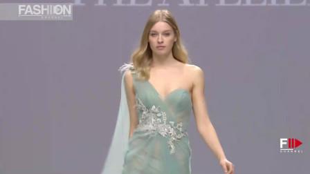 巴塞罗那时装周THE ATELIER 品牌婚纱秀,这种色彩的婚纱,第一次见!
