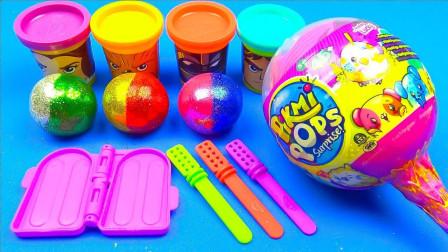 【玩具果冻】用玩具色闪光球制作闪光冰淇淋惊喜迪士尼PJ面具!