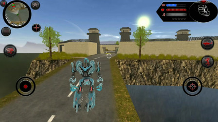 鲨鱼机器人:机器人找到直升飞机站在上面是想和飞机融合吗
