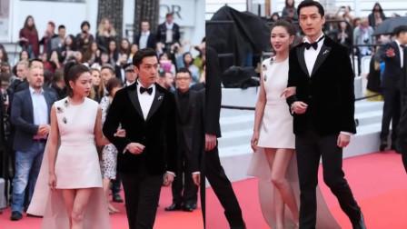 胡歌帅气亮相戛纳新片首映,上红毯前贴心帮廖凡整理衣服