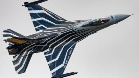 比利时空军 F-16AM战斗机 降落时瞬间起飞表演