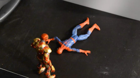 绿巨人欺负蜘蛛侠,钢铁侠来帮忙