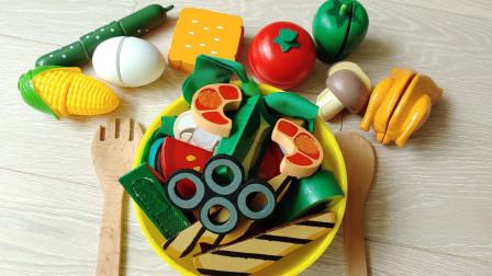 趣味食玩 动手在自己做一份美味的蔬菜水果沙拉