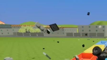 乐高BeamNG:火车开足马力冲向铁轨上的掌上游戏机,画面太酸爽啦