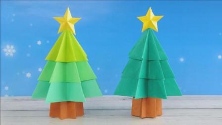 彩色卡纸制作圣诞树