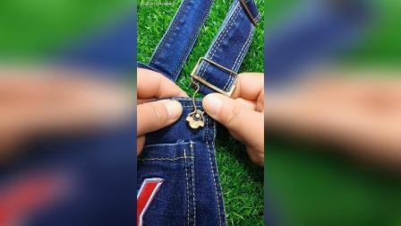 背带裤扣子掉了 这样轻松解决