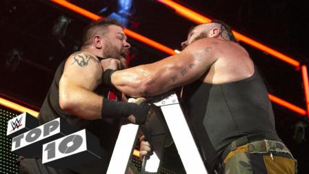 兰迪奥顿十大rko WWE合约阶梯十大高空坠落