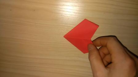 创意手工:儿童折纸王子,看如何完成立体心折纸的