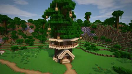 【飞儿】我的世界建筑教学20:万圣节树屋