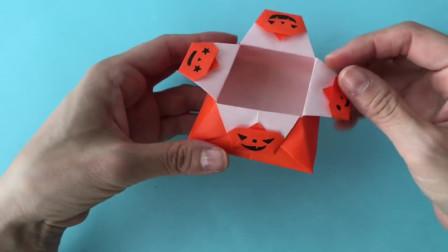 万圣节小南瓜元素配上这个小纸盒,真可爱