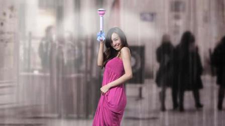 最奇葩的雨伞,只有一个伞把就能挡雨,就像举个棍子一样?