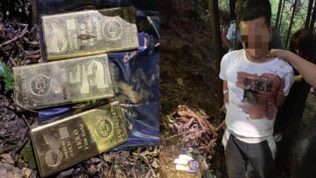 杭州一公墓旁挖出3公斤黄金 是百万窃贼的小金库
