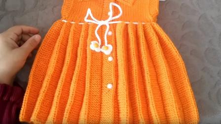 百褶裙是怎样编织出来的?一款百褶边编织教程,自由决定宽窄!