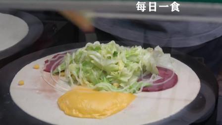 台北街头美食 酷似煎饼果子的不知名小吃