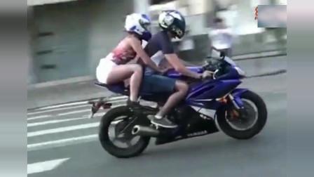 机车摩托:都有女朋友了还不满足,非带着女友来飙车,也不怕出事