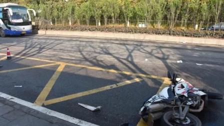 【重庆】摩托车超速撞死横穿公路行人 驾驶员将负事故主要责任