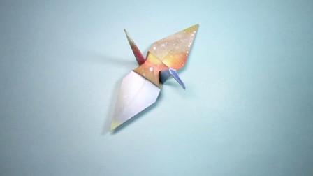 手工折纸,千纸鹤的折法,简单易学关键漂亮