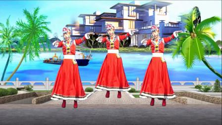 精选广场舞《雪山阿佳》经典藏族歌曲,大气豪迈好听极了!