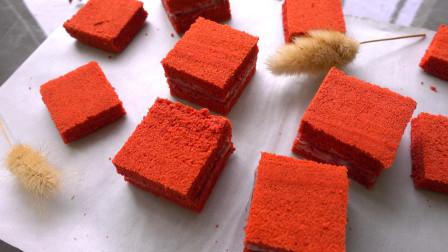 如何简单制作红丝绒蛋糕?给你一个配方,简单易学