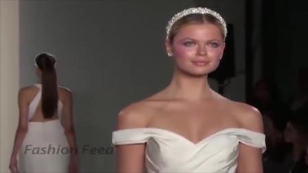 法国时装婚纱秀,这样的露肩设计让美女充满诱惑力!