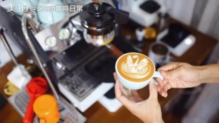【VLOG.26】在家做咖啡日常: 拿铁咖啡拉花 +今天不喝手冲泡壶茶