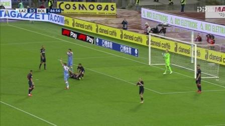 第87分钟拉齐奥球员因莫比莱射门
