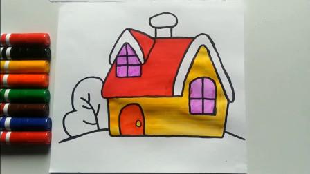 小房子简笔画,画出你心目中的家