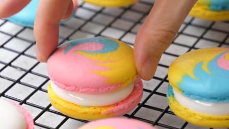你爱吃的马卡龙详细做法来啦!每口味道都不同,简单易学还是彩色哦
