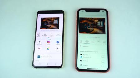 三星S10E网页加载速度,对比iPhone XR