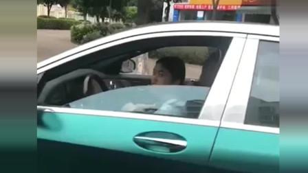 迈巴赫双拼颜色太惊艳了,是小姐姐开的,你关上车窗什么意思
