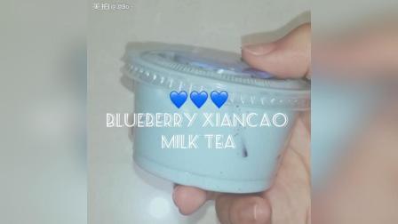 蓝莓仙草奶茶slime