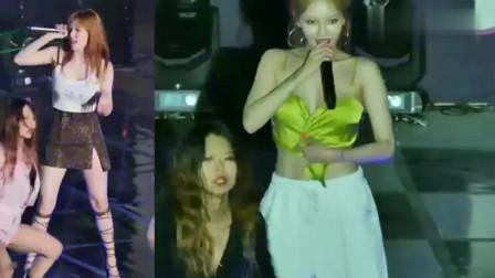 舞台事故:金泫雅表演险走光,抓着衣服完成整段演出!