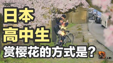 《只狼》里的苇名城真实存在?!和日本女高中生合影赏樱
