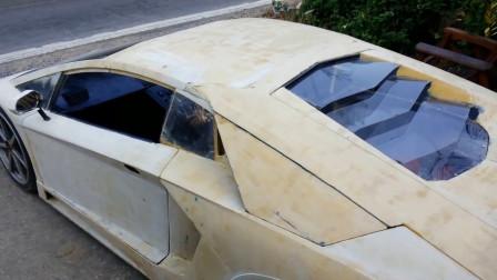 大学生用汽车零件组装的兰博基尼,单纯看外观,简直一模一样