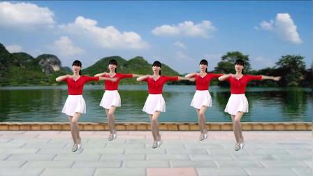 16步广场舞《又见山里红》老歌新跳舞步,时尚大气,简单易学!