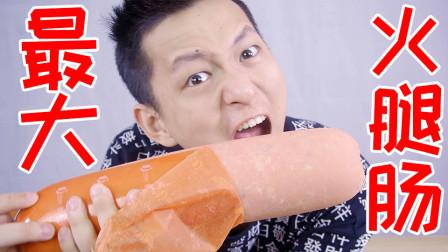 全世界最大的火腿肠适合搭配泡面吗?一口面一口肠咸死你!