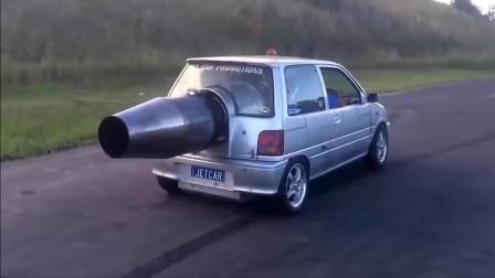 装有火箭发动机的汽车,就是兰博基尼和法拉利都不敢惹它!