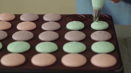 马卡龙芝士蛋糕-软糯香甜,五颜六色的马卡龙激发你的少女心,小清新风格蛋糕
