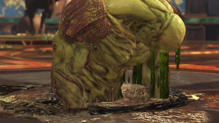 不义联盟2:命运博士放出大招,沼泽怪物挡都挡不住,直接求饶
