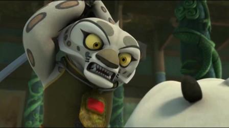 功夫熊猫:小残豹的功夫比残豹还要厉害,阿宝和盖世五侠都被他一人打败!