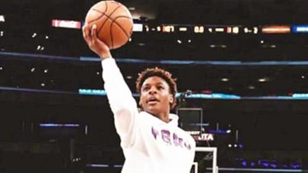 下一个NBA巨星!布朗尼在球馆上演飞身暴扣,詹皇兴奋得手舞足蹈